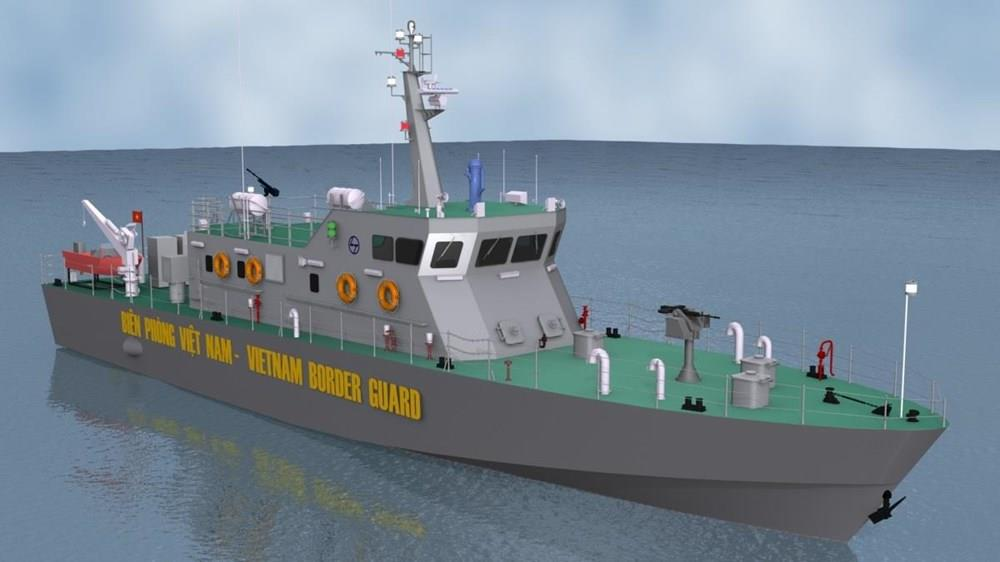 The high speed patrol ships are designed to help coast guards supervise and safeguard sea sovereignty, detect illegal activities such as smuggling and perform search and rescue missions (Photo: VNA)