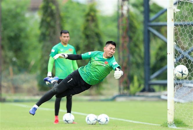 Goal keeper Nguyen Tuan Manh (Photo: VNA)