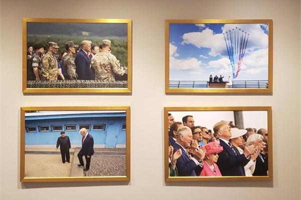 Ảnh Kim Jong Un trang trọng trên tường Nhà Trắng