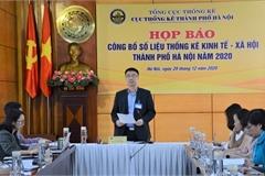 Hà Nội: GRDP năm 2020 theo giá hiện hành ước đạt 1.016 nghìn tỷ đồng