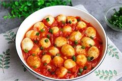 Trứng chim cút sốt cà chua, món ngon đảm bảo bạn chưa thử