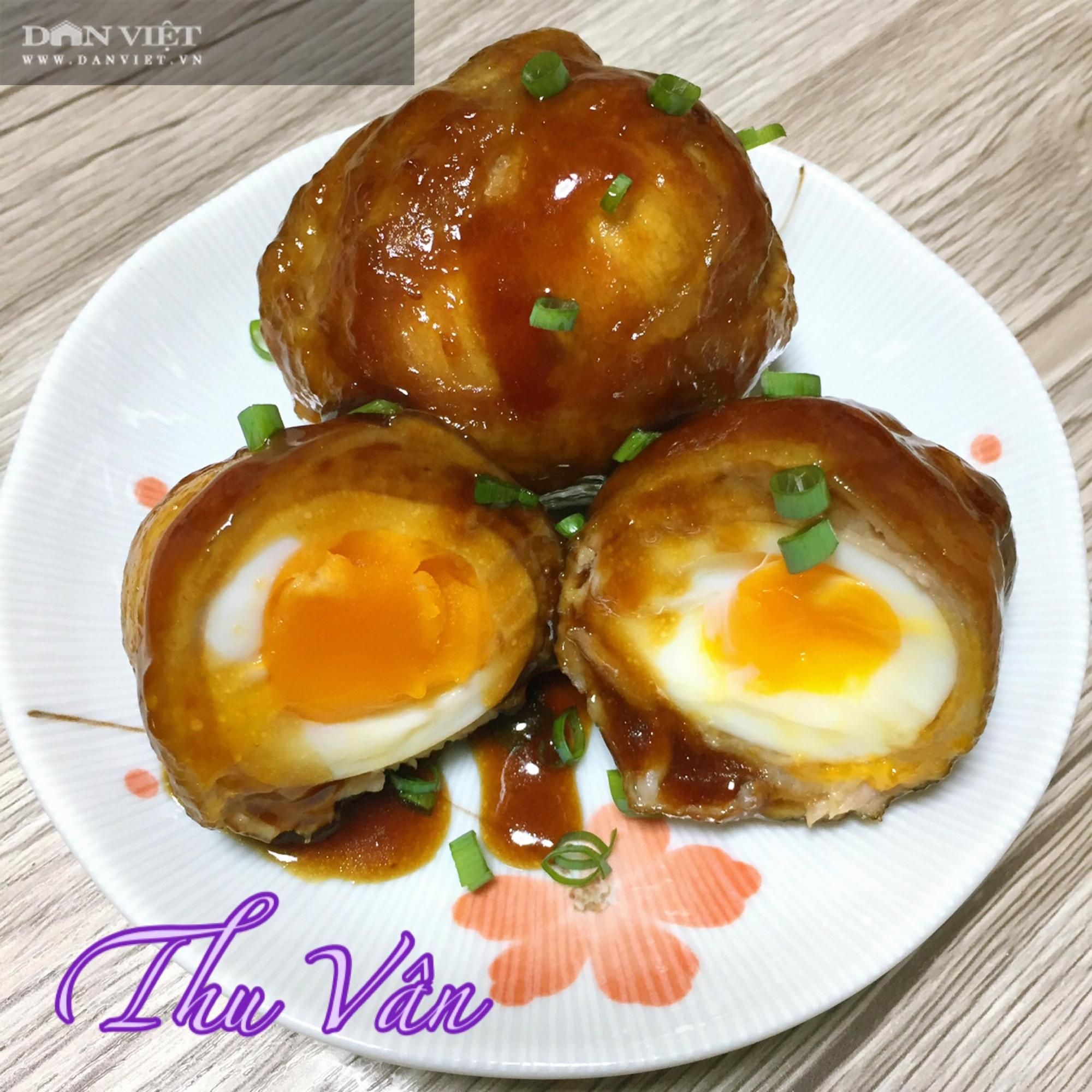 Lạ miệng với món thịt cuộn trứng om xì dầu kiểu Nhật đậm đà, ngọt bùi - Ảnh 8.