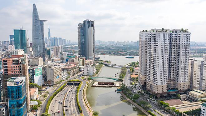 Ảnh nhìn từ trên cao dự án chống ngập 10.000 tỷ đồng ở Sài Gòn - Ảnh 1.
