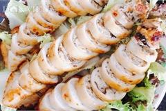 Lạ miệng với món mực nhồi thịt gà nấm hương