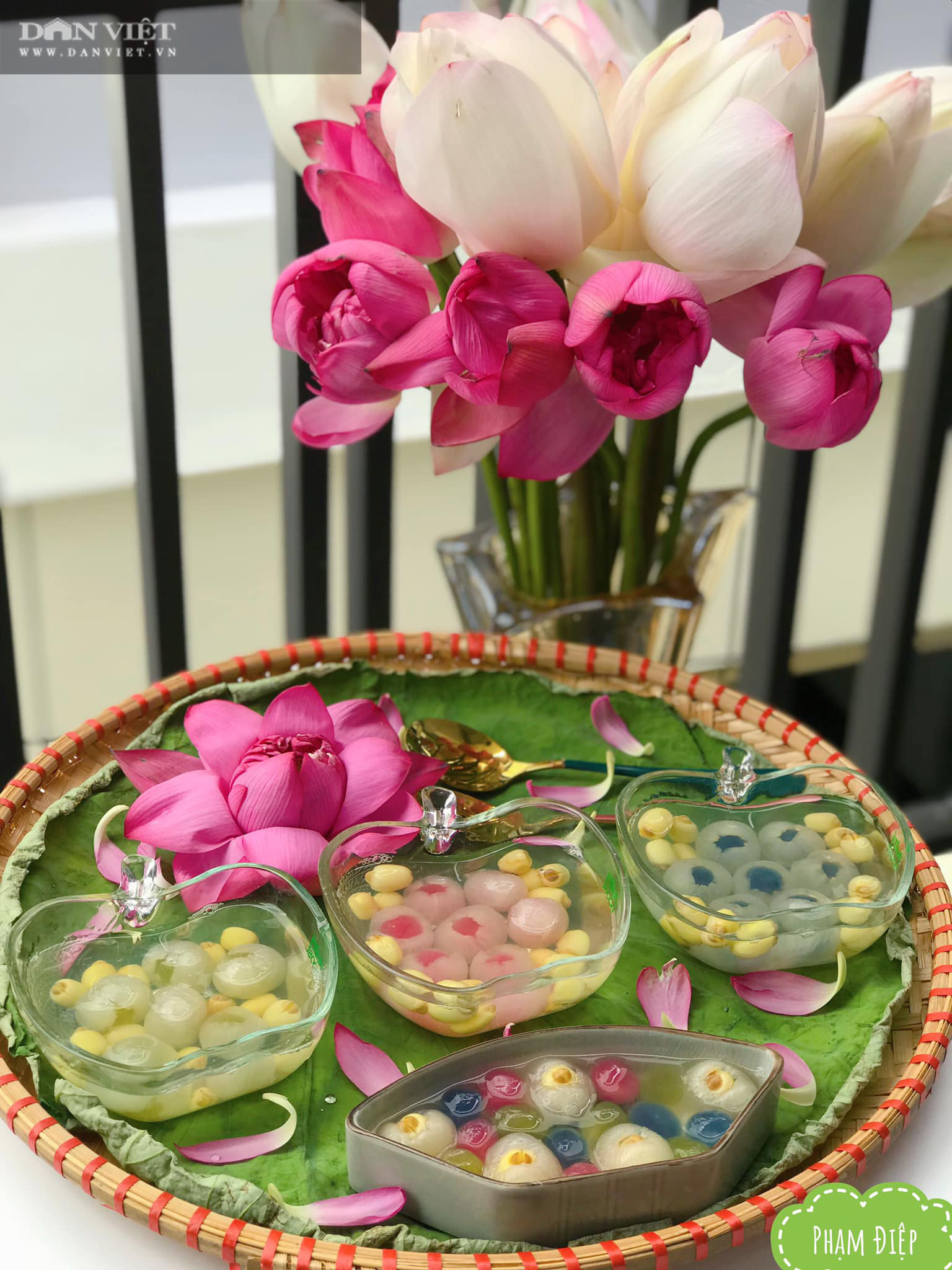 Bí quyết để nấu chè hạt sen long nhãn trân châu đẹp lung linh, ngon như ý - Ảnh 4.