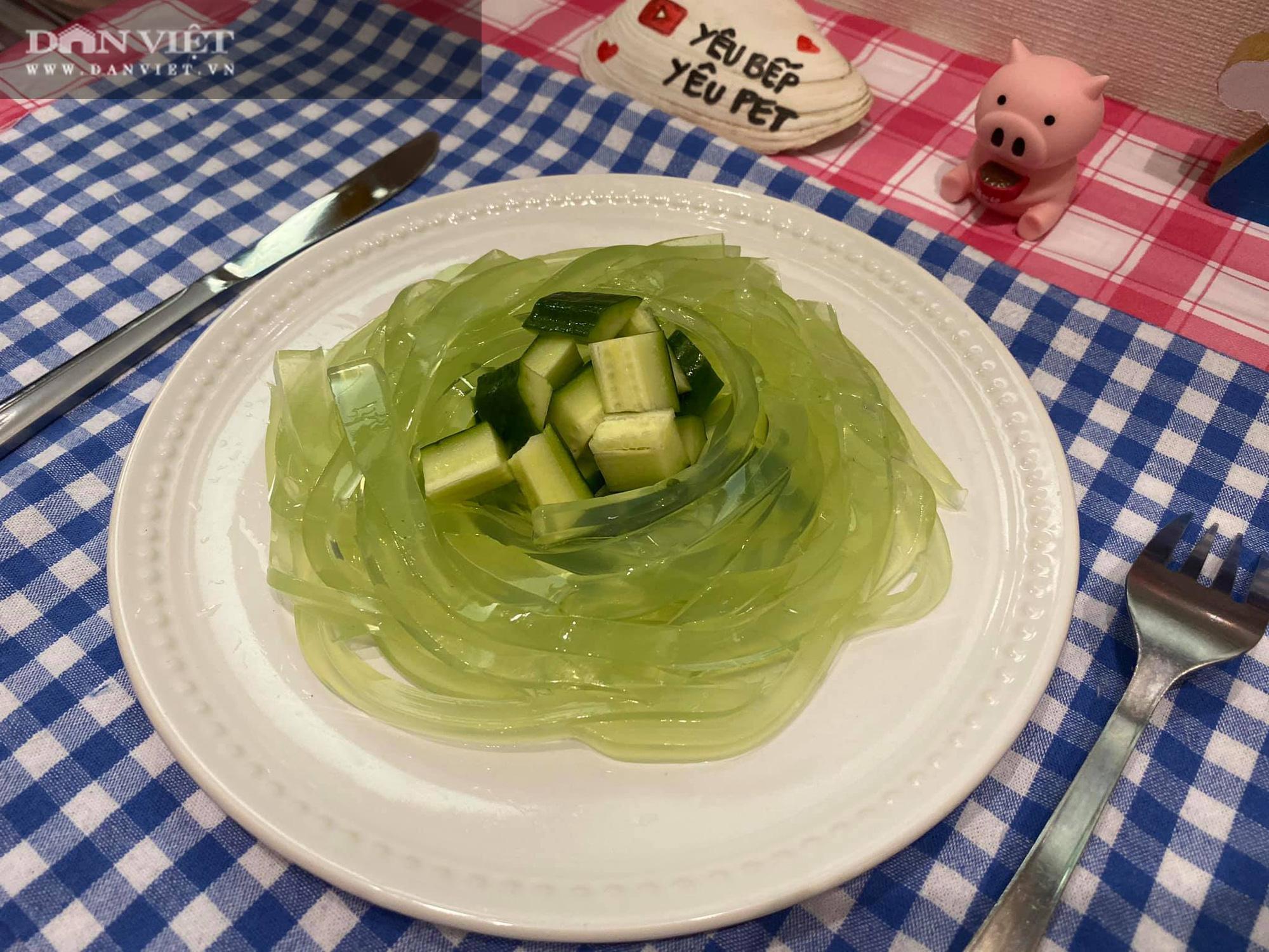 Thạch dưa chuột spaghetti thanh mát - Ảnh 2.