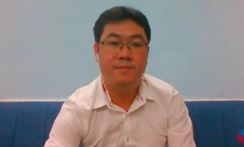 Ông Nguyễn Vũ Quốc Anh - CEO GAB Group trong buổi họp báo online ra mắt sàn TMĐT USG.