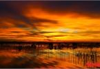 Stunning sunset on Tam Giang Lagoon