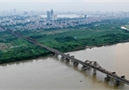 Overview of bridges spanning Red River in Hanoi
