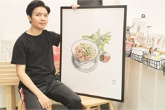 Young food illustrator brings Vietnamese cuisine to life
