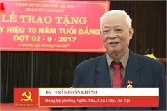 Vĩnh biệt đảng viên lão thành Trần Doãn Khánh