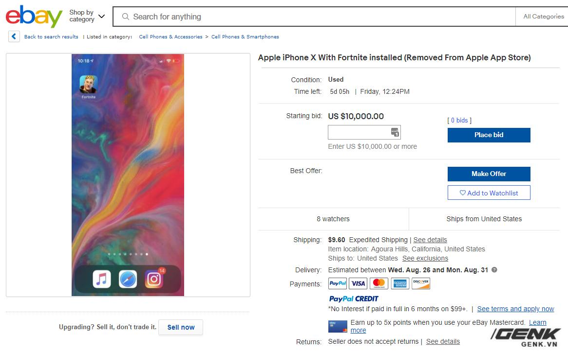 iPhone, iPad cài sẵn Fortnite được rao bán với giá lên tới hàng trăm triệu đồng - Ảnh 3.