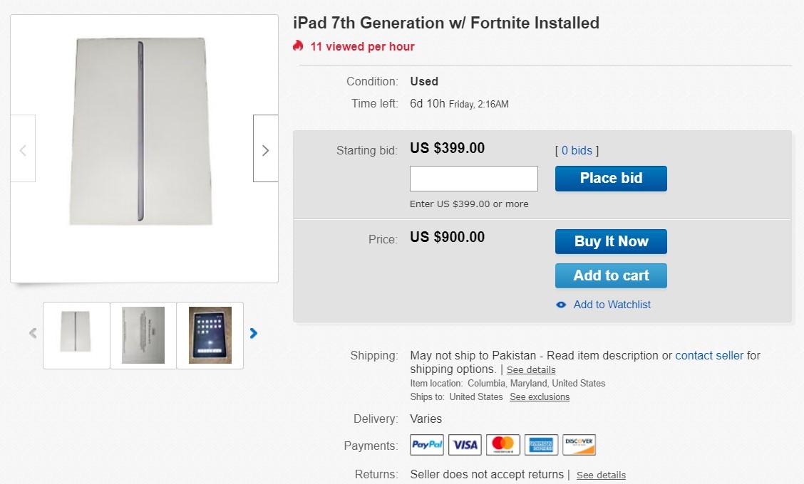iPhone, iPad cài sẵn Fortnite được rao bán với giá lên tới hàng trăm triệu đồng - Ảnh 4.
