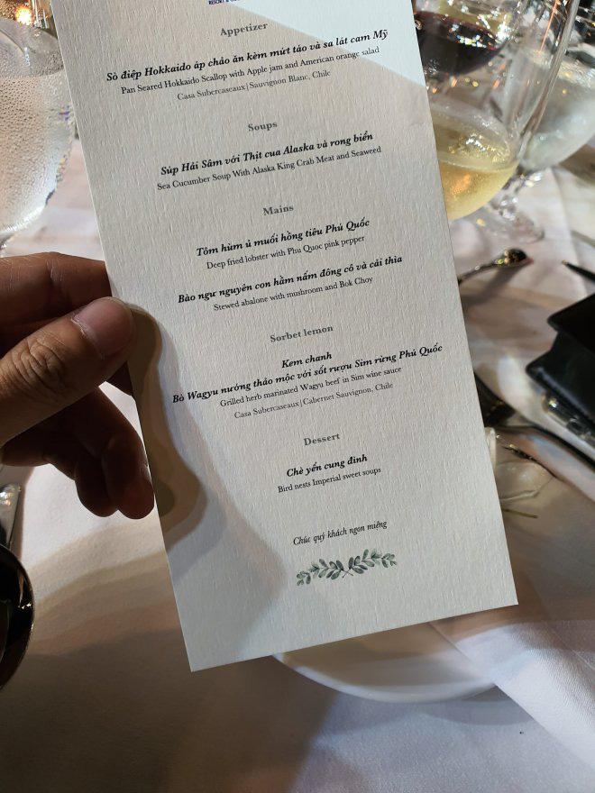 Thực đơn đắt khủng khiếp trong đám cưới của Ông Cao Thắng và Đông Nhi - Ảnh 2.