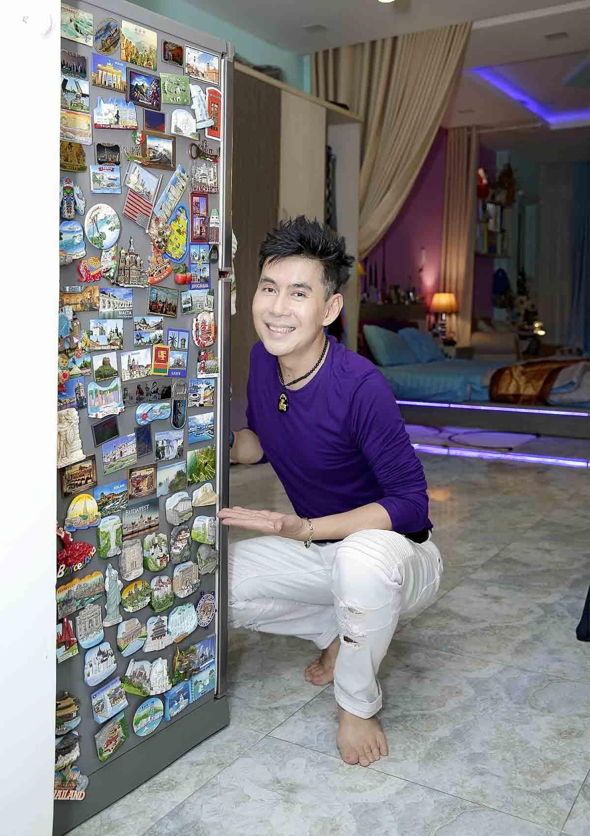 Nhà phố 70 tỷ nhìn đâu cũng thấy màu tím của nam ca sĩ từng là một trong Tứ đại thiên vương của nhạc Việt - Ảnh 10.