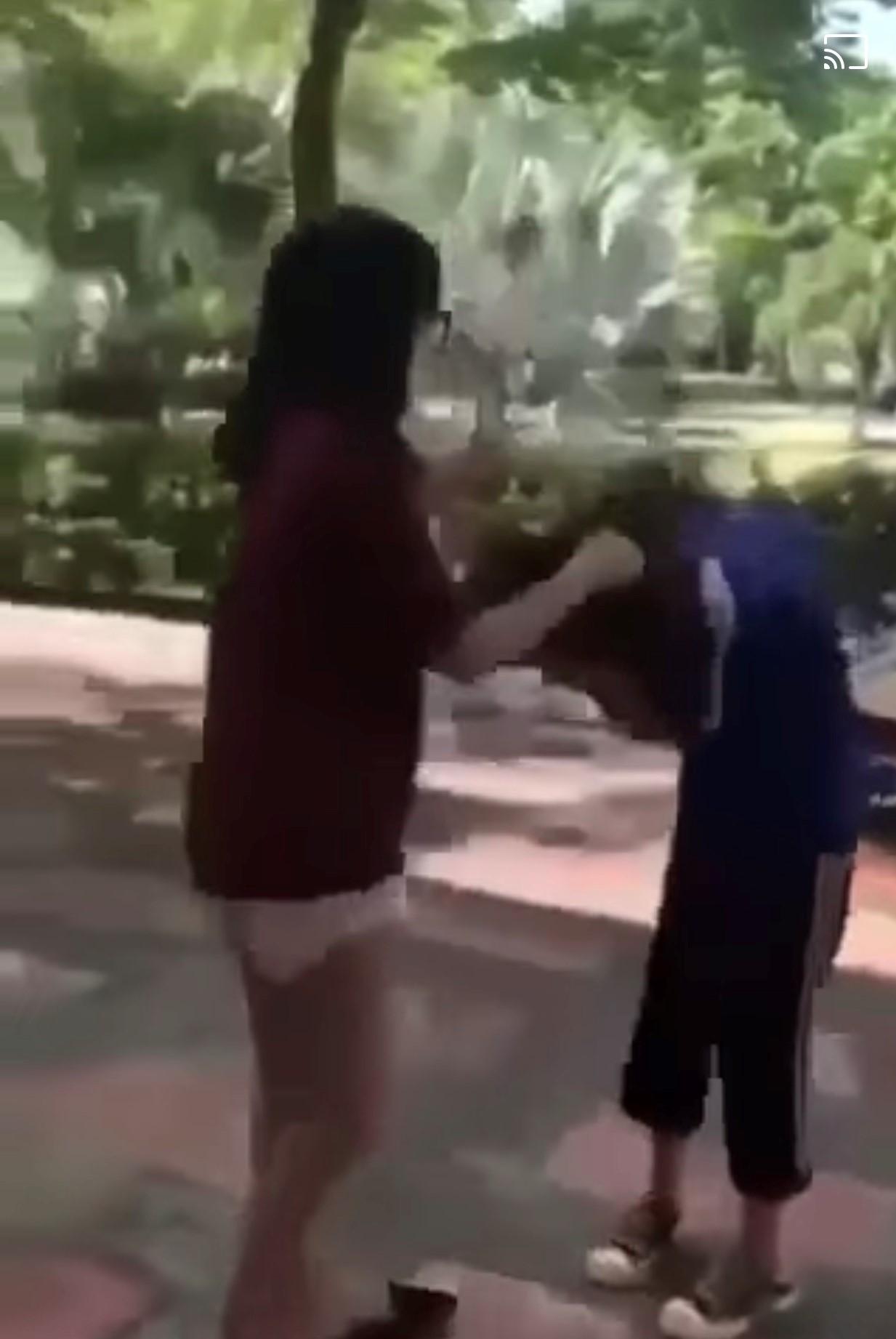 Hải Phòng: Nhóm nữ sinh cấp 2 thay nhau giật tóc, lên gối, đánh đập một nữ sinh khác trường - Ảnh 1.