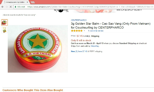 Cao Sao Vàng 3.000 đồng/hộp ở Việt Nam đang gây sốt ở nhiều nước, sốc nhất giá bán cao nhất lên đến 1,4 triệu đồng/hộp - Ảnh 2.
