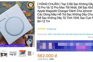 Cách nhận biết bộ sạc MagSafe ''xịn'' của iPhone 12