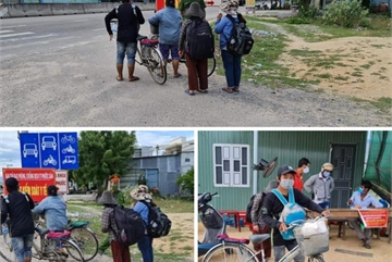 Unemployed by Covid-19 workers cycle thousands of kilometres home