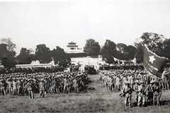 Hanoi historic flag raising ceremony 65 years ago