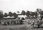 Hanoi historic flag raising ceremony 65 years ago