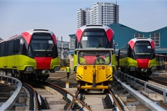 Hanoi metro trains ready for trial run