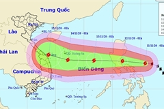 Storm Vamco heading to East Sea