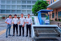 Da Nang students make beach litter collecting machines