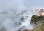 Dump site fire chokes Dalat