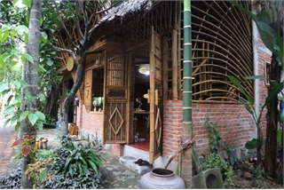 Unique coconut and bamboo-made house in Hoi An