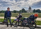 Tien Giang man travels the world by motorbike