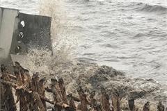 Ca Mau continues struggling with dyke erosion