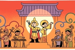 Google Doodle marks Vietnam's Cai Luong folk opera