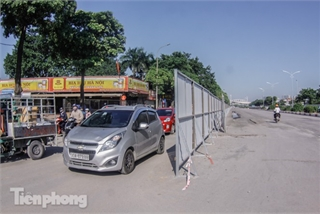 F1 construction work causes congestion in Hanoi
