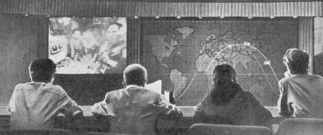 Trạm điều khiển mặt đất của phi vụ Soyuz 37, đưa người Việt Nam đầu tiên lên vũ trụ.