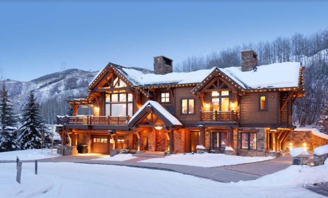 Biệt thự gỗ 45 triệu USD giữa rừng tuyết đẹp như cổ tích - Hình 2