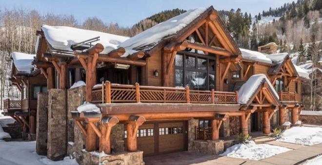 Biệt thự gỗ 45 triệu USD giữa rừng tuyết đẹp như cổ tích - Hình 1