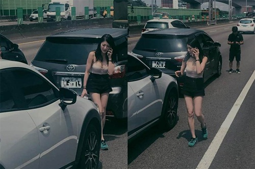Va chạm xe cộ, cô gái bất ngờ nổi tiếng vì quá đỗi gợi cảm - 1