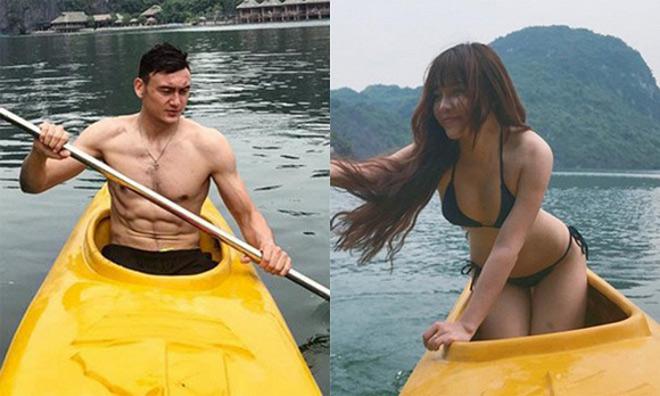 Thủ môn Lâm Tây và bạn gái xinh đẹp lần đầu chụp ảnh tình tứ bên nhau - 1