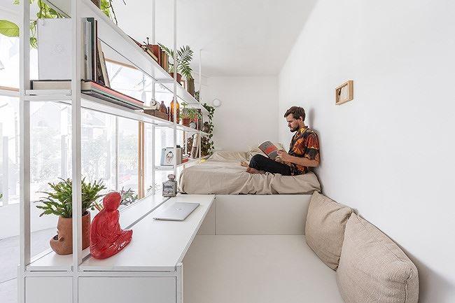 Tận dụng khoảng không 18m2 bỏ trống biến thành nhà đẹp như mơ - 3