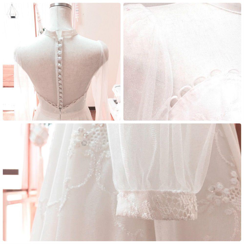 """Cô gái xinh xắn dành 3 tháng tự tay may váy cưới gây """"sốt"""" mạng - 2"""