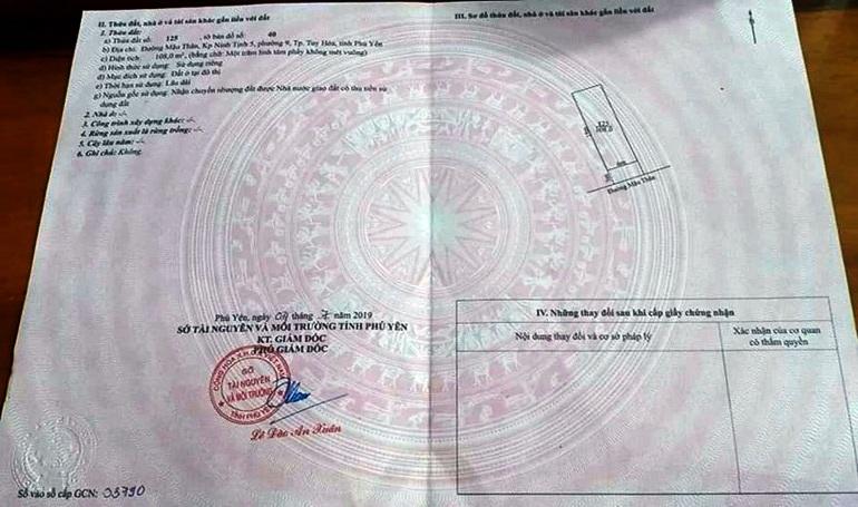"""Phú Yên: Cảnh báo làm giả """"sổ đỏ"""" để thực hiện giao dịch đất đai - 1"""