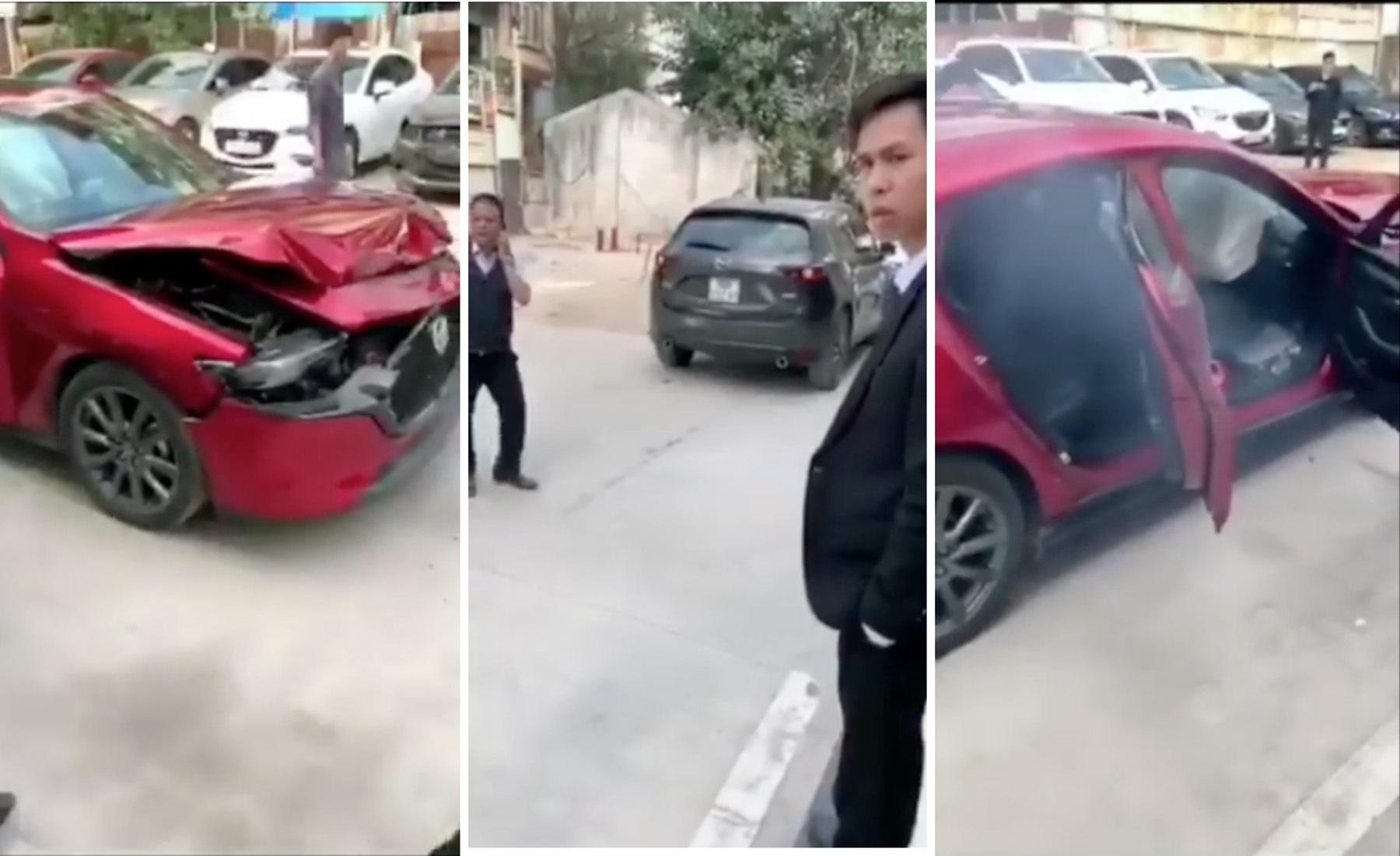 Mazda3 gây tai nạn khi thử nghiệm tính năng phanh khẩn cấp tự động? - 1