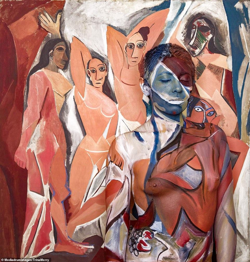 """Người mẫu khỏa thân """"nhập vào"""" những siêu phẩm hội họa - 5"""