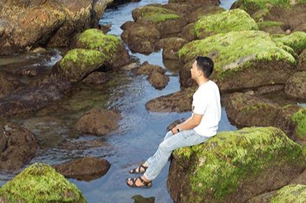 Ngẩn ngơ vẻ đẹp rạn đá Nam Ô ở Đà Nẵng - 3