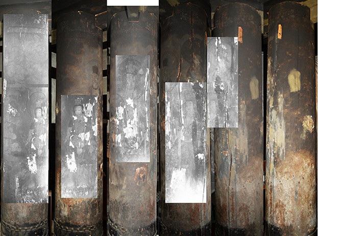 Bất ngờ phát hiện tranh vẽ Phật ẩn giấu trong ngôi đền cổ 1.300 năm tuổi - 1