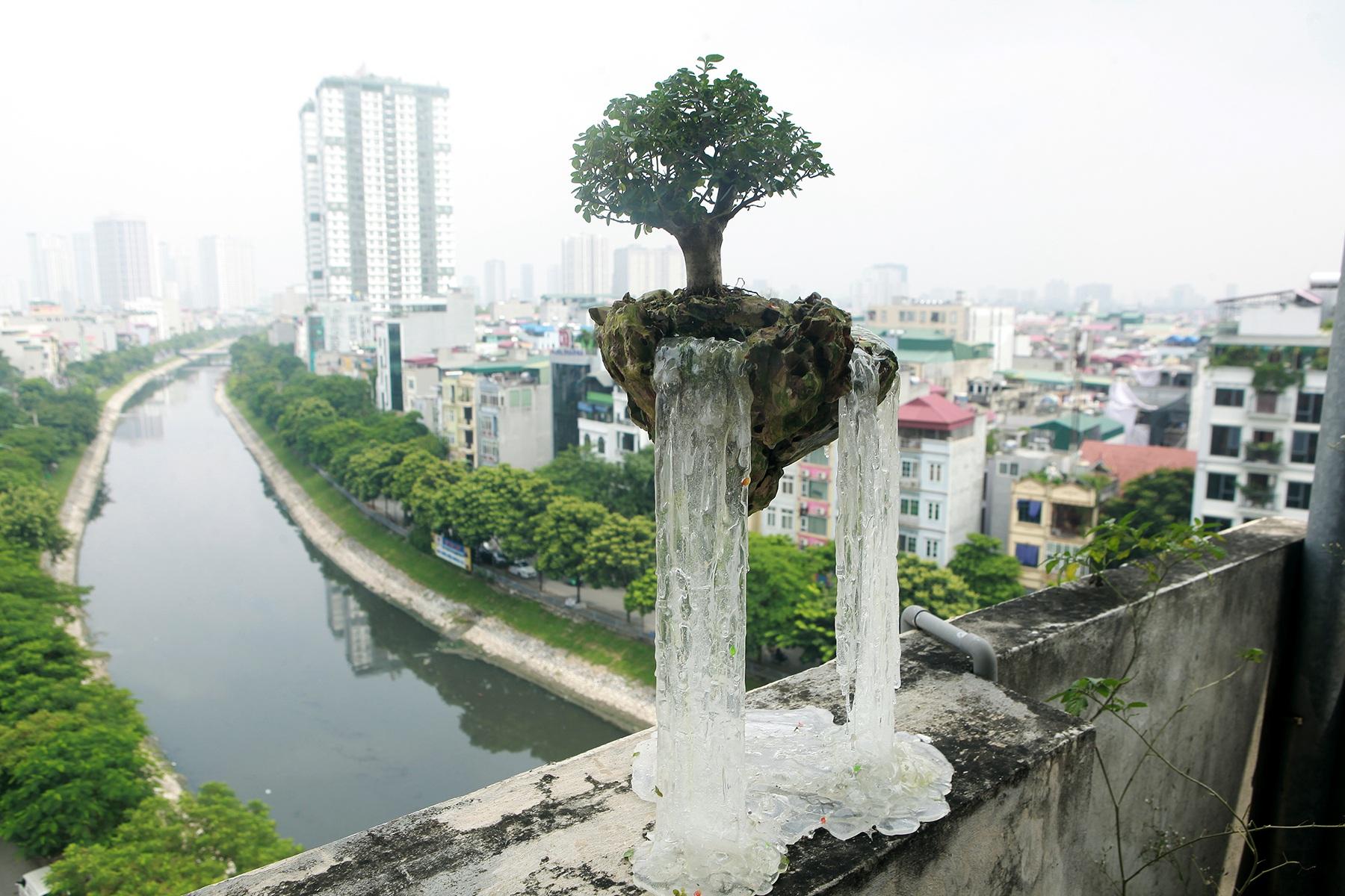 """Bất ngờ với những """"hòn đảo bay"""", tiểu cảnh bay lần đầu xuất hiện ở Hà Nội - 4"""