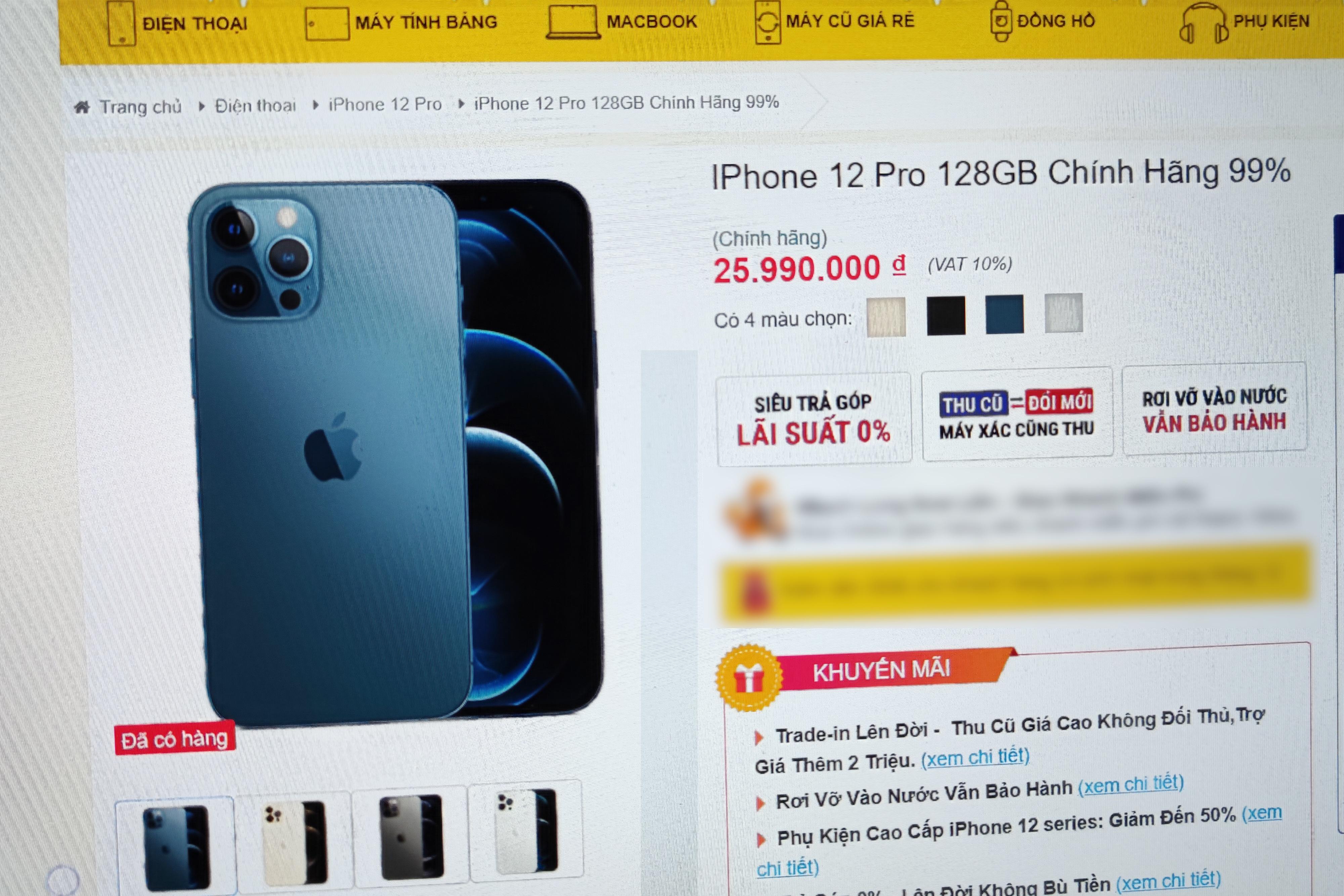 iPhone 12 Pro hàng cũ bắt đầu xuất hiện, giá chênh lệch máy mới không nhiều - 1