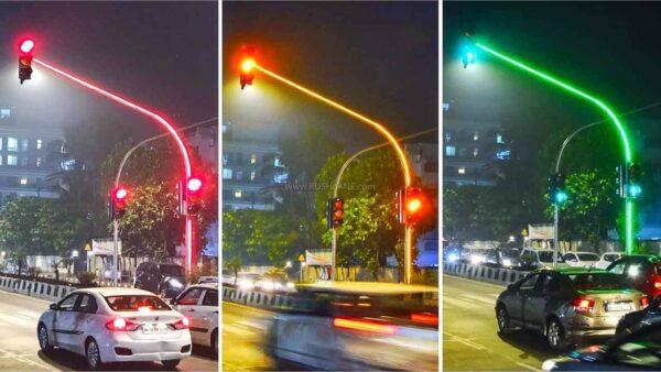Ấn Độ thử nghiệm lắp đặt đèn giao thông full-LED độc lạ ở Mumbai - 1