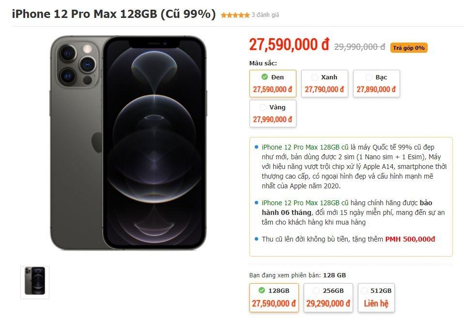 iPhone 12 Pro Max cũ xuất hiện tại Việt Nam, giá vẫn quá cao - 1